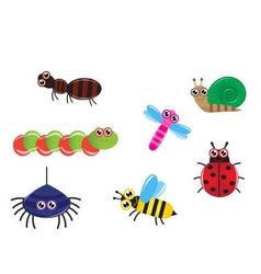 cartoon insects vector image