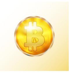 Golden bitcoin coin icon vector