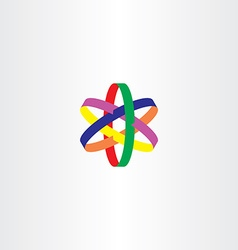 logo star colorful symbol icon vector image