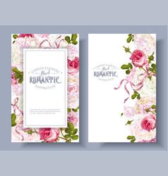 romantic garden banners vector image vector image