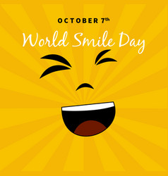 World smile day suitable for greeting cards and vector