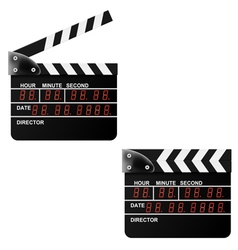 Digital Movie clapper board on a white background vector image vector image