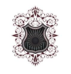 heraldic shield color vector image