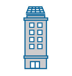isolated city building vector image vector image