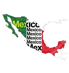 Map of Mexico 1 vector image