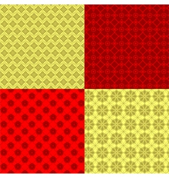Set of Oriental Chinese New Year Seamless Pattern vector image vector image