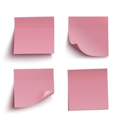 Set of red sticky notes vector image