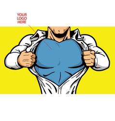 Superhero chest for your logo vector