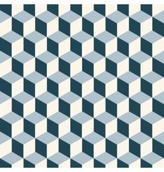 vintage cube pattern vector image vector image