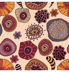 Abstract seamless floral composition vector