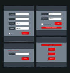 Forms for login vector image