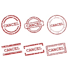 Cancel stamps vector