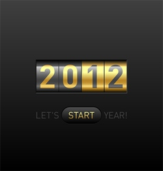 new year counter 2012 vector image vector image