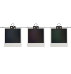 retro polaroid photo frames vector image vector image