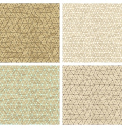 Seamless lace patterns on old paper texture vector image vector image