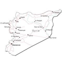 Syria Black White Map vector image
