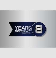 8 years anniversary logo style with circle vector