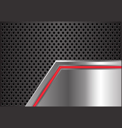 abstract red arrow light metal plate circle mesh vector image