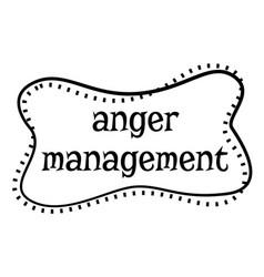 Anger management stamp on white background vector