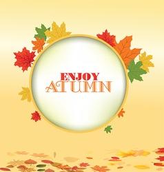 Autumn leaves border design vector image
