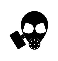 Black icon on white background military gas mask vector