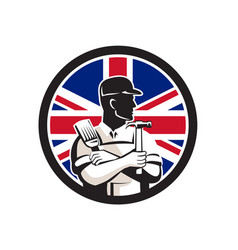 British diy expert union jack flag icon vector