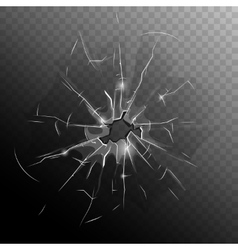 Broken Window Pane vector image