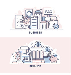 business assistance and finances management banner vector image