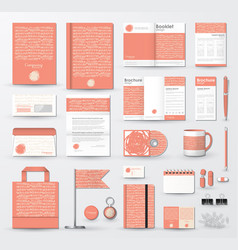 business corporate identity template set vector image