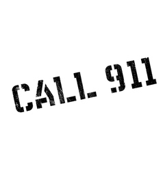 Call 911 rubber stamp vector