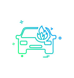 car fire icon design vector image
