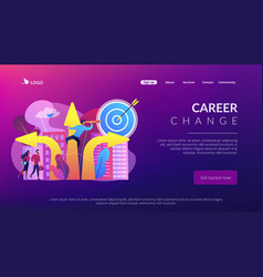 Career change concept landing page vector