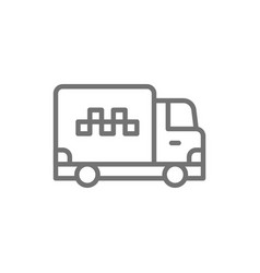 cargo taxi truck delivery line icon vector image