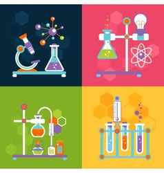 Chemistry design concepts vector image vector image