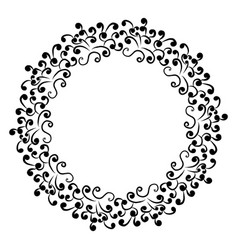 Circular floral ornament frame for vector