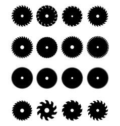 circular saw blades vector image