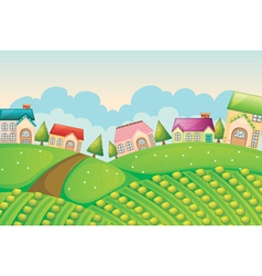 Colony of houses in nature vector