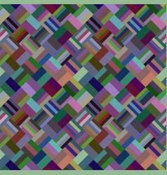 Colorful geometric diagonal rectangle mosaic tile vector
