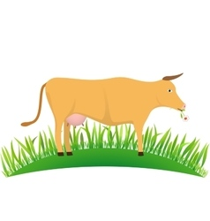 Cow on the lawn vector