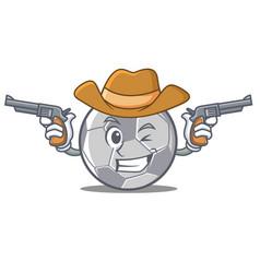 cowboy football character cartoon style vector image