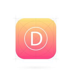 Creative set of app icon vector