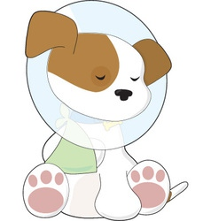 cute puppy cone vector image