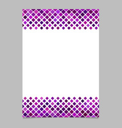 diagonal square pattern page background template vector image