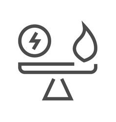Energy car selection icon vector