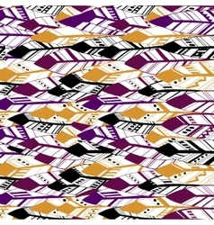 Ethnic Geometrical Feather pattern background vector