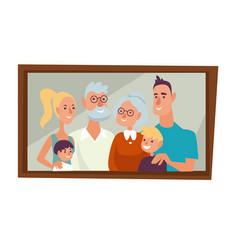 family portrait parents children and vector image