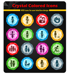 family simply icons vector image