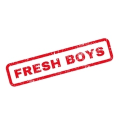 Fresh Boys Text Rubber Stamp vector