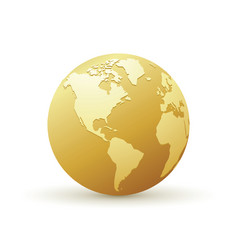 golden world globe america vector image