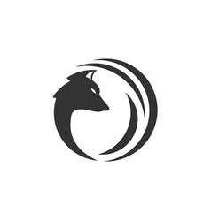 head af fox logo template vector image